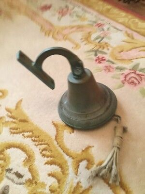 Large copper?  bell. Home Bar~ Last Orders~ Garden..~