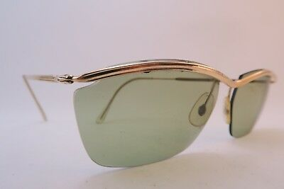 Vintage 50s sunglasses gold filled green lens Doublé Or Laminé made in France