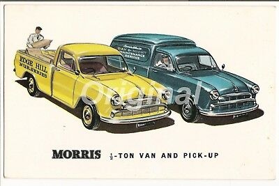 ORIGINAL Morris Oxford ½-Ton Van & Pickup Dealer Postcard 1950s/60s V-RARE