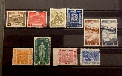 Collection Of Japanese Stamps - 3 Sets, 1942, 1944, 1946 -  MUH