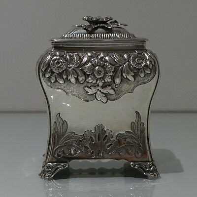 Early 19th Century Antique George IV Sterling Silver Tea Caddy Sheffield 1828