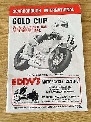 1984 Gold Cup International  Oliver`s Mount Motorcycle Races Programme