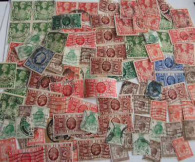 Over 90 x King George V & KG VI used stamps PUC/Silver Jubliee & comms H cat V
