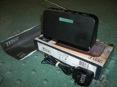 Tesco DAB/FM Digital Radio - 10 Station Presets Battery/Mains