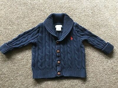 Baby Boys Knitted Ralph Lauren Jumper Age 9M
