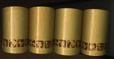 4 Prize Bamboo Cups Western Airlines Islander Theater Captains Sweepstake