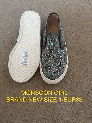 Girls Monsoon Sparkly Pumps Size 1 Brand New