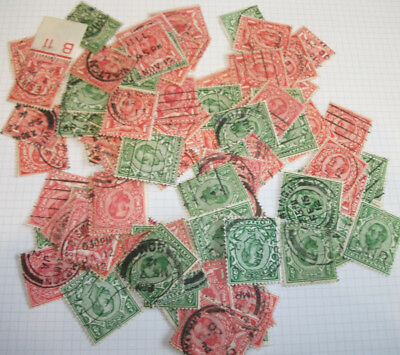 """L@@K"" 100 GB King George V definitives 1/2d and 1d Downey stamps all unchecked"