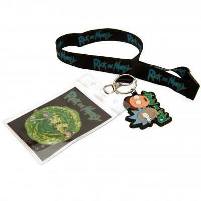Rick And Morty Lanyard & Keyring Set Key Fan Gift New Official Licensed Product