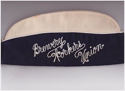 """Brewery workers labor union hat local 181 11.5"""" sized 7 1/2 (easton pa?) cotton"""