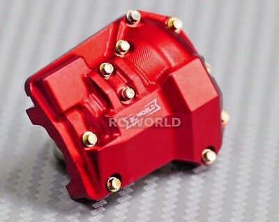 Traxxas TRX-4 Upgrade Front METAL AXLE COVERS Diff Cover Aluminum CNC Red