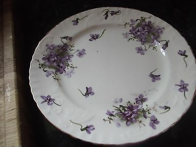 hammersley victorian violets salad plates x 2