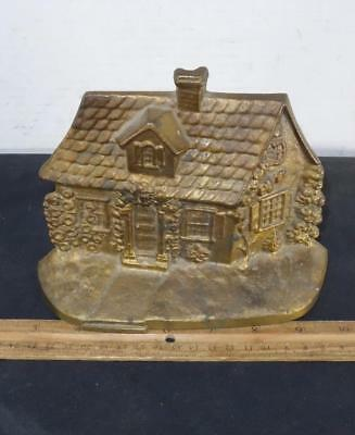 Antique Solid Bronze Country Cottage House Garden Doorstop !