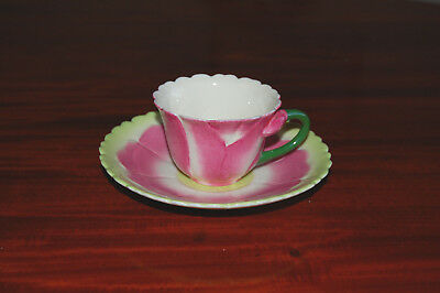 Laura Ashley Hand decorated Pink Flower Cup & Saucer. Perfect Condition.