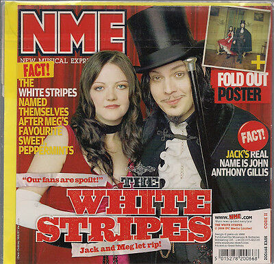 The White Stripes NME Birthday /Greeting Card +Fold Out Poster 2008 New Sealed