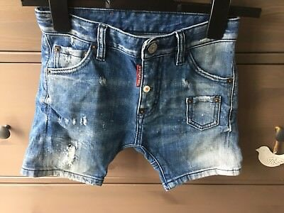 Dsquared Boys Drop Crotch Skinny Jeans Shorts Age 8 Year's 100% Genuine
