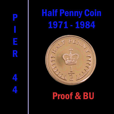 Half Penny Proof & BU Decimal Half Pennies 1/2p 1971, 1972 to 1984 etc - Select