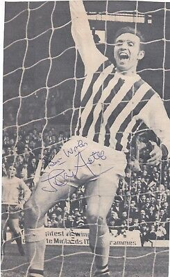 Signed Jeff Astle 1942-2002 West Bromwich Albion England 1970 World Cup 1960s +