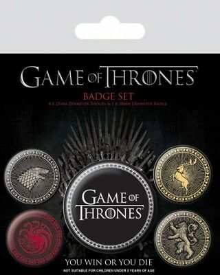 Game Of Thrones Ansteck Buttons Great Houses Neu & OVP