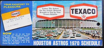 1970 Houston Astros Schedule ~ Texaco Travel Credit Card ~ Passport to Pleasure