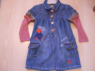 "Next Denim ""be Happy""   Dress   Age 2 - 3 Yrs"