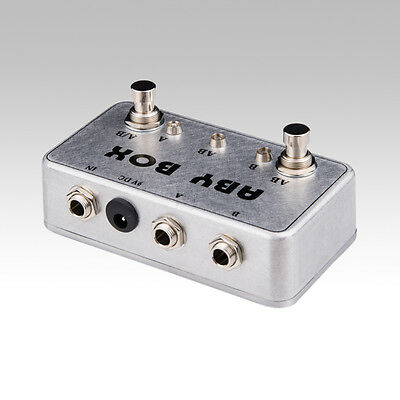 New Hand made ABY Switch Box For Effects Pedal-TRUE BYPASS- Amp / guitar AB