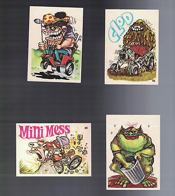 1970's Odd Rods Lot X 4 Nice Looking Cards Inc Numbers 21,40, 43,44