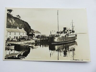 Postcard Portaskaig, Islay. M.V. Lochiel(Mailboat 1939-70,-bar in Bristol)