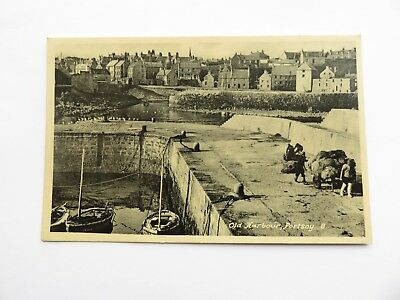 Postcard Portsoy Harbour, Aberdeenshire. Unposted Early 20th Centiry.