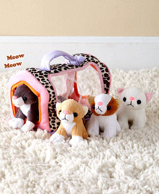 The Lakeside Collection Plush Playset with Sound Meowing Kittens
