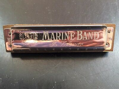Vintage M. Hohner Marine Band #A440 Harmonica Key of E - Made in Germany