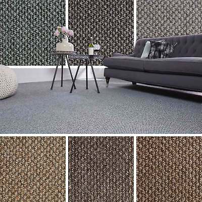 Cheap Flecked Structural Loop Pile Carpet Felt Backed Hardwearing Bedroom Lounge