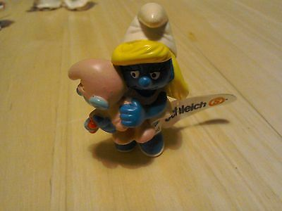 Schleich Peyo 20192 Smurfette with Baby Germany 1984