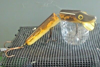Musky Lure Old Wooden Bait Co. Canada OWB VAMP MODEL Walleye Pattern? PERFECT