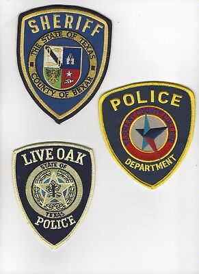 3 Different Texas Police Patches