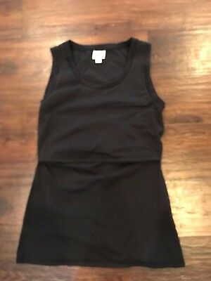 Boob Design B-Warmer Organic Maternity & Nursing Singlet Tank Black Medium