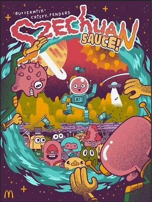 Szechuan Sauce Rick and Morty Poster Photo small limited edition McDonalds