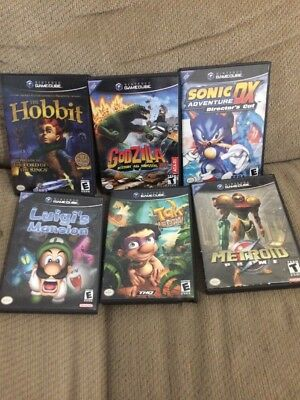 Lot Of Gamecube Games Luigi's Mansion, Tak, Metroid, Hobbit, And More!