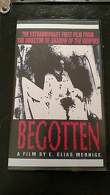 BEGOTTEN VHS a horror film by E. Elias Merhige Shadow of the Vampire ultra rare