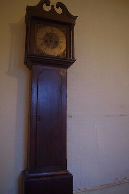Antique Grandfather Clock Mahogany c1770 by JA Hendre of Wigton, Fully working