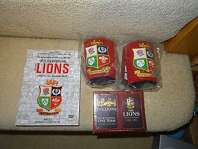 Lions Memorabilia Beer Holders Dvd & Cards All Brand New