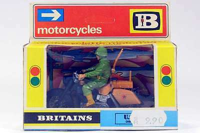 Britains 9682 1974 U.s. Army Dispatch Rider Harley Davidson Mint And Boxed