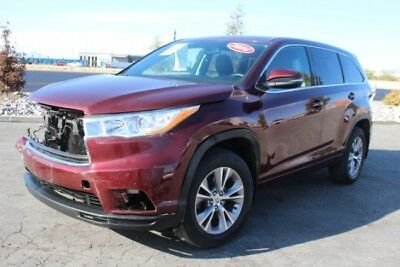 2014 Toyota Highlander LE 2014 Toyota Highlander LE Wrecked Rebuilder Perfect Project Priced to Sell L@@K!