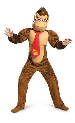 Boys Deluxe Donkey Kong Costume size Small 4-6