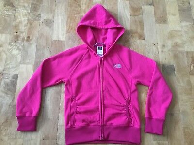 Girls The North Face Fleece Hoodie Sz S Age 7-8