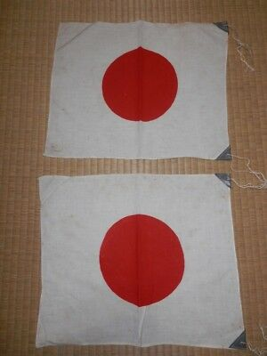 WW2 Japanese National 2flags 16 inchX 13.5 inch.Very Good.