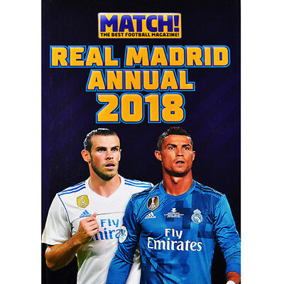 Real Madrid Annual 2018 Book Bale Ronaldo Fan Gift New Official Licensed Product