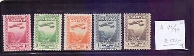 ! Spain 1931. Air Mail Stamp. YT#A90/94. €100.00 !