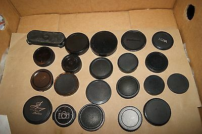 Lot Of Over 20 Various Lens Caps  Mixed Makes Models