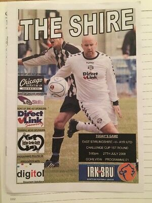 East Stirling V Ayr. July 2008. First Competitive Game St Ochilview